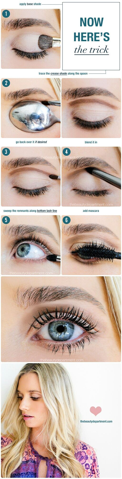 How to Create the Perfect Cut Crease Makeup Using a Spoon ...