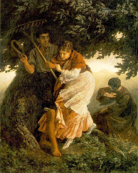 Szekely, Bertalan, (1835-1910), Thunderstorm, 1875, Oil