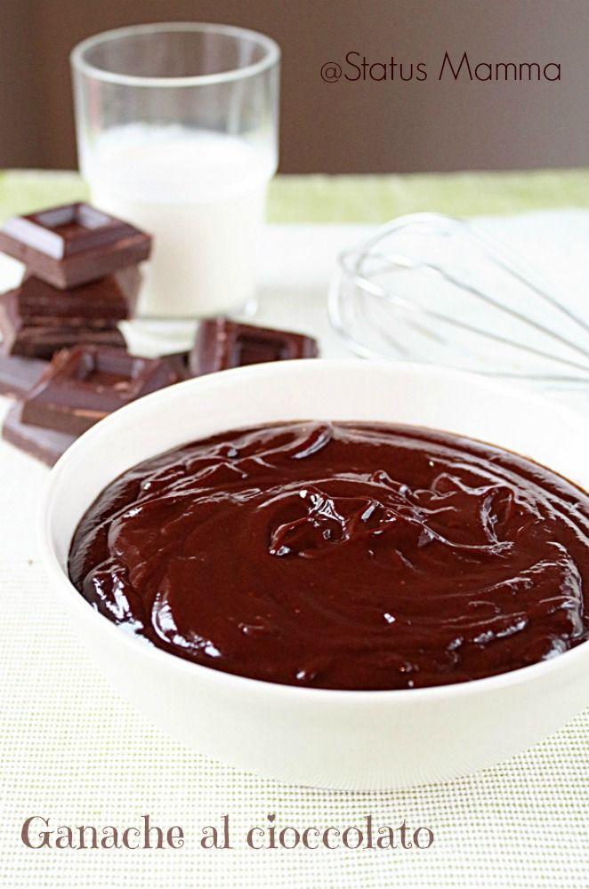 Ganache al cioccolato fondente   Status mamma