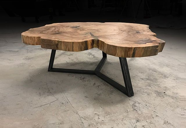 Natural Wood Live Edge Tables Made From Fallen Trees Reclaimed
