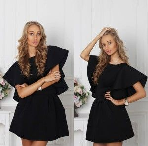 Black Neoprene Dress Charlie <3 Wear it at office, special events or to go out with friends :)
