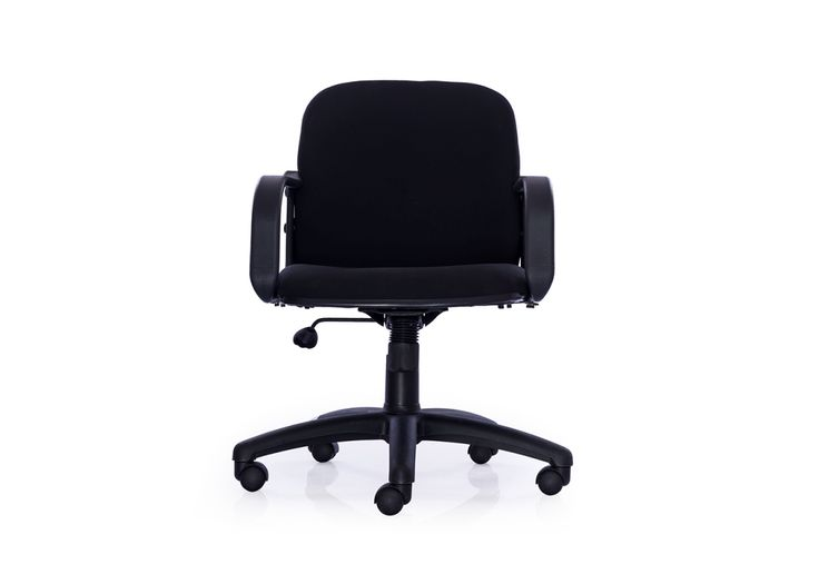 The Ideal Medium Back Fabric Chair from Durian gives you the extra comfort with fully upholstered back & Cushioned. Made to design to provide great Lumbar suppotr back.