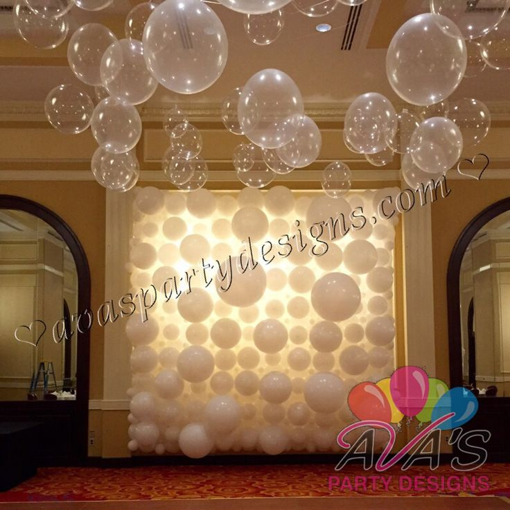 Balloon Decorations For Wedding Reception Ideas: White Balloon Wall And Backdrop, Great For Weddings And
