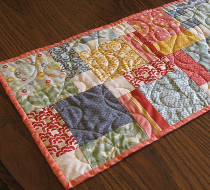 Quilted Table Runner Topper Summer Salt Air by Mountainquiltworks
