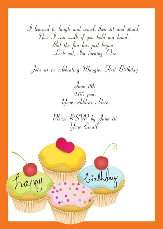 50 best cupcake invitations images on pinterest cupcake cute cupcake invitiation stopboris Image collections