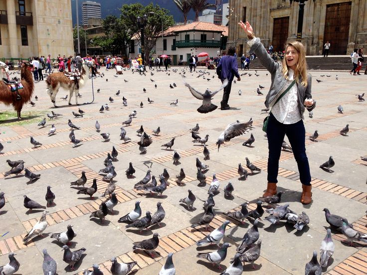 Plaza Bolivar is an essential stop when visiting Bogota, even if you only stay long enough to toss some corn at the pigeons and pet a few llamas.