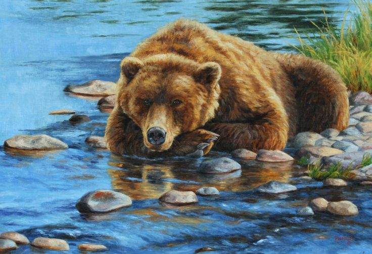 Grizzly bear painting by Cliff Rossberg | Art - Wildlife - Bears | Pi ...
