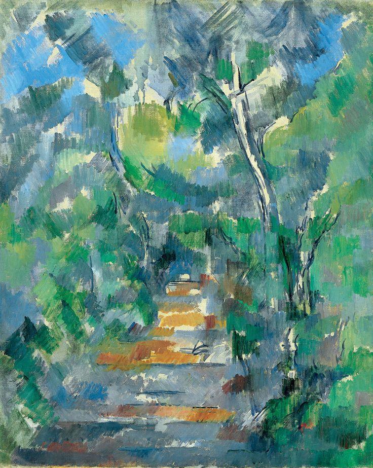 Paul Cézanne - Sous-bois (Chemin du Mas Jolie au Château noir), 1900–1902