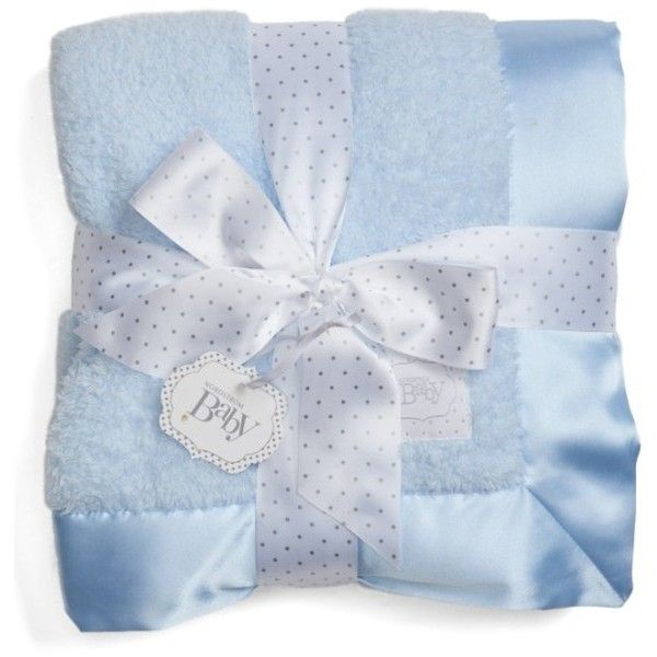 Infant Nordstrom Baby Luxe Chenille Blanket (155 BRL) ❤ liked on Polyvore featuring home, children's room, children's bedding, baby bedding and blue precious