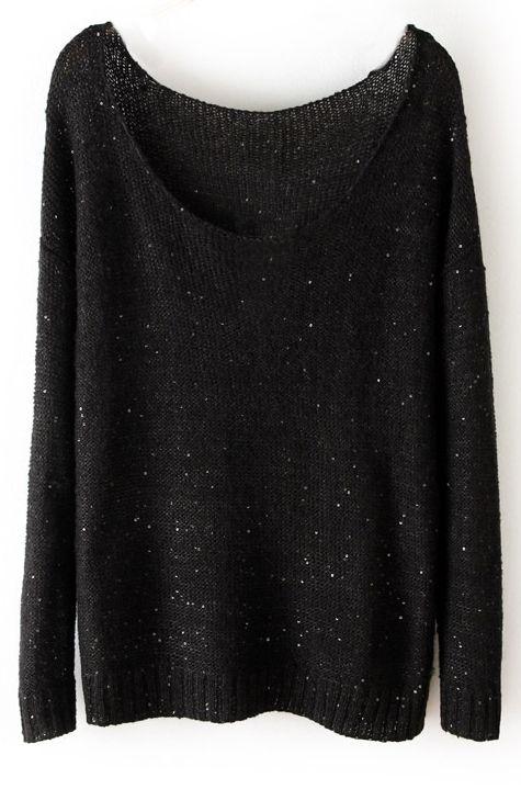 Sweat en tricot-Noir EUR€23.80