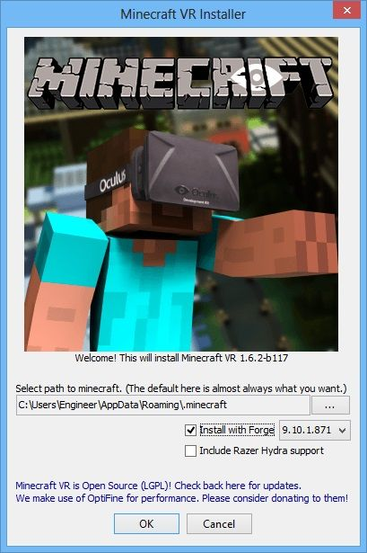 Minecraft plugin dedicated to Oculus RIft #MineCraft #OculuRift #VR #VirtualReality