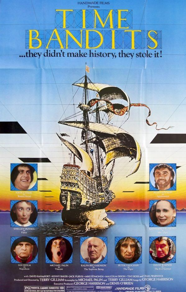 Time Bandits (1981) Movie posters, Movie memorabilia, Movies