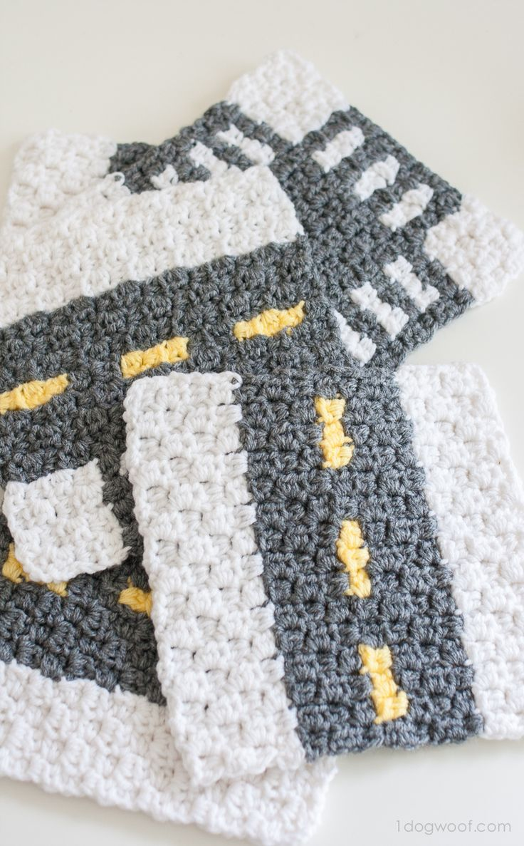 Crochet a city with the CityStreets Mapghan Squares Collection | www.1dogwoof.com