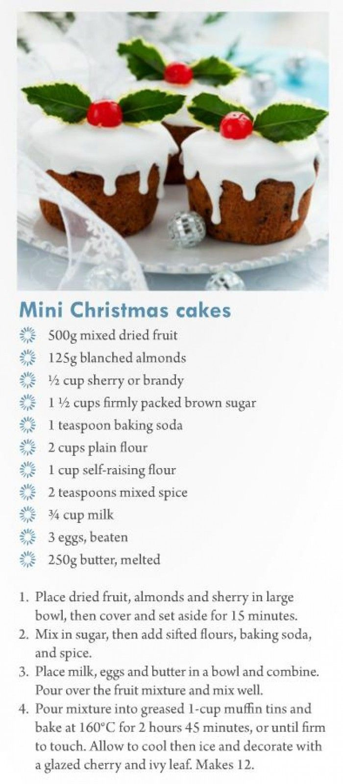 cupcakes voor de kerst, yummie