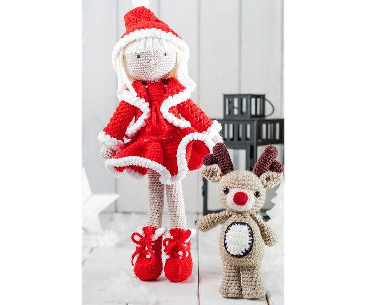 Lalucha świąteczna z reniferem - Mayalove- - Lalki