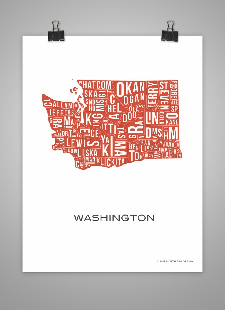 For Kevin Washington State County Map