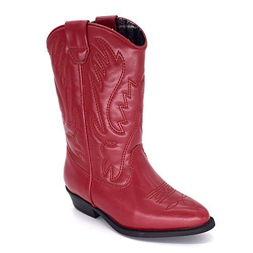 D.LIN Kids' Texas Leather Western Boot Girls & Boys Cowboy Boots - Sale Price:$80.99