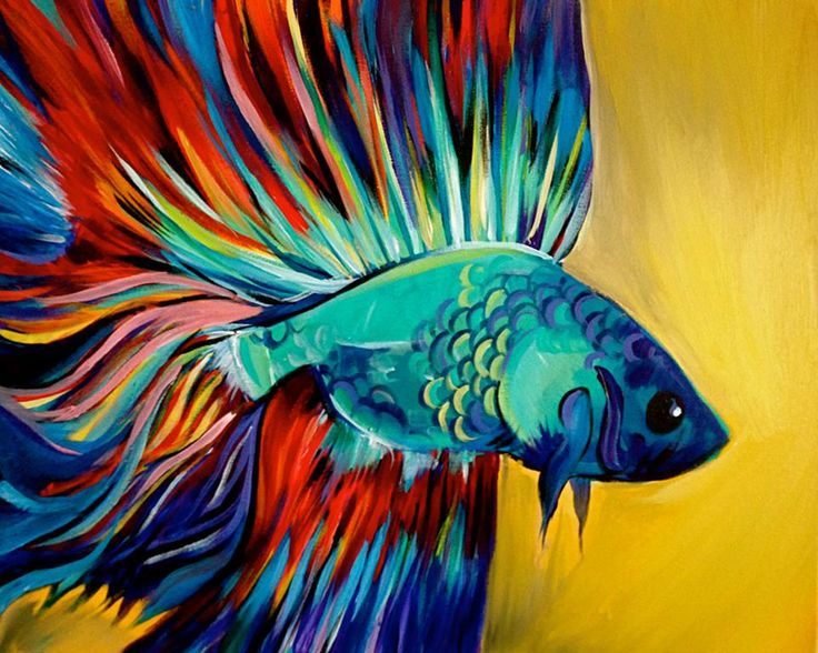 23 best art lab learn discover create images on pinterest for Betta fish painting