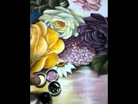 Fundo espelhado rosas parte 3 - YouTube