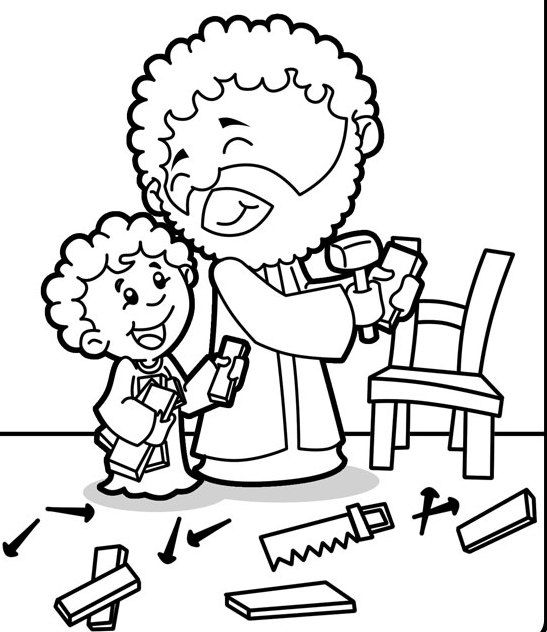 597 best bible nt jesus birth images on pinterest for St joseph coloring page