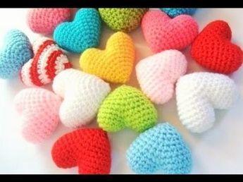 ♥Corazón 3D a Crochet de SAN VALENTIN ♥- Cómo tejer paso a paso un corazón en 3 dimensiones