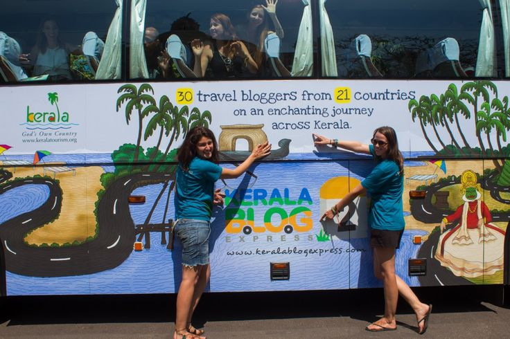 With other bloggers and the Kerala Blog Express bus!