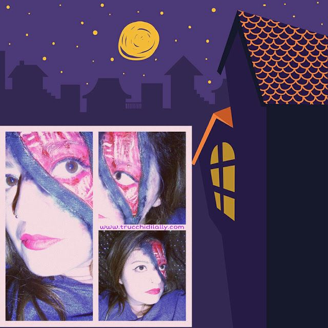 Makeup  realizzato con cerniera Halloween 2016 http://www.trucchidilally.com/2016/11/halloween-2016-prove-e-makeup-trucco.html