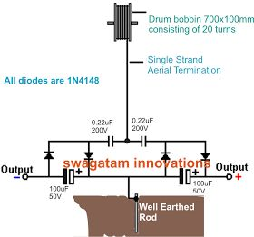 Homemade Circuit Projects: How to Collect Free Energy from Atmosphere - Circuit Diagram Attached