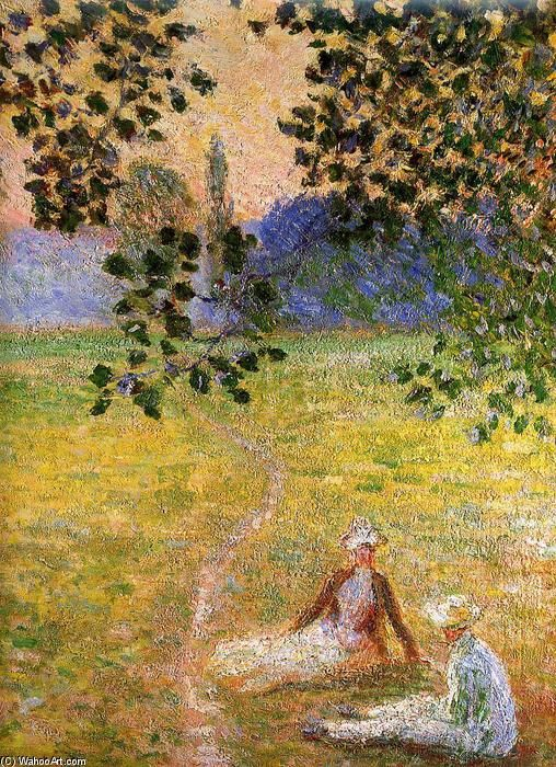 Claude Monet | Evening in the meadow at Giverny (detail), 1888