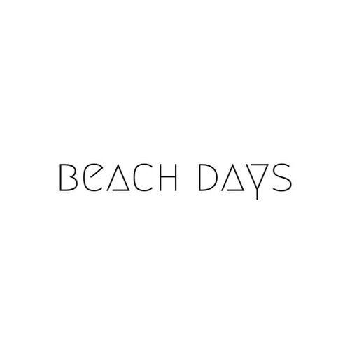Beach Days Words Quote Black White