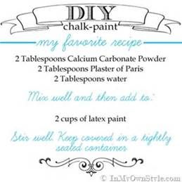 calcium carbonate chalk paint recipe - Bing images