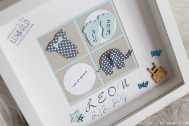 Newborn Baby Rahmen Welcome to the world Geschenk zur Geburt Taufe