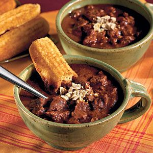 100 Best Comfort Food Classics | Chunky Beef Chili | SouthernLiving.com