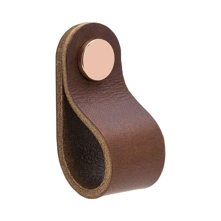 Loop håndtak fra Beslag Design, et elegant og luksuriøst håndtak med lær fra T&#...