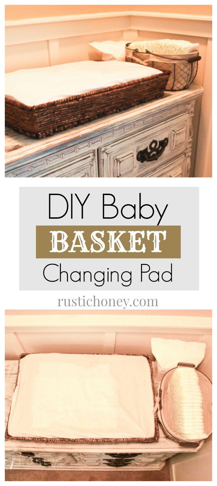 DIY Baby Basket Changing Pad