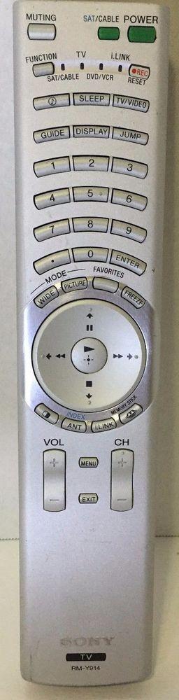 Sony TV Remote Control   Model   RM-Y914   Consumer Electronics, TV, Video & Home Audio, TV, Video & Audio Accessories   eBay!