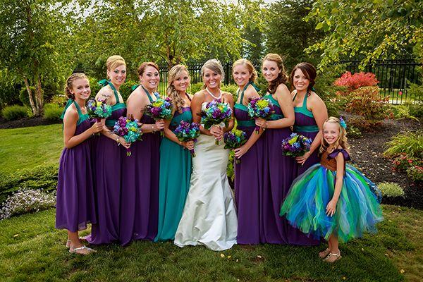 Peacock Wedding Color Palette | Bridesmaids | Pinterest ...