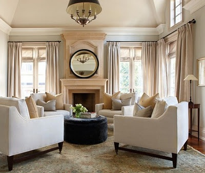 circle of chairs. Formal living room, neutral colors. Classy and traditional. stunning.