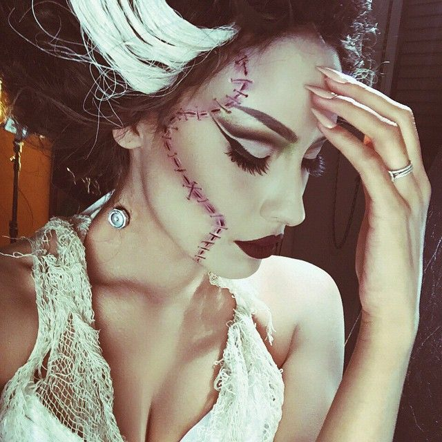 (Originally done on the gorgeous Micheline Pitt by Rick Baker for M.A.C.) Bride of Frankenstein makeup | @desimakeup