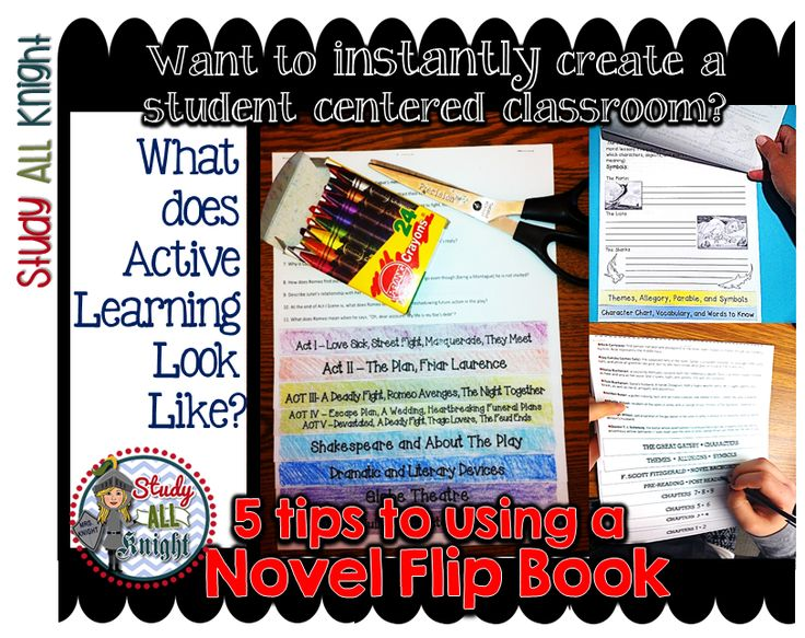 Want to Instantly Create a Student Centered Classroom? 5 Tips to Using a Novel Flip Book