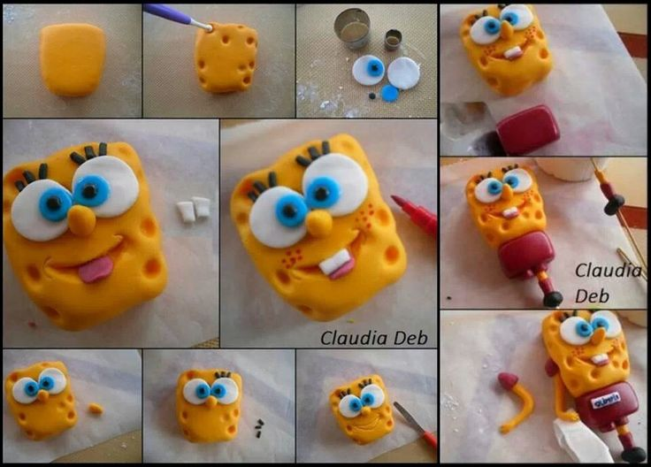 Spongebob Cake Topper Tutorial