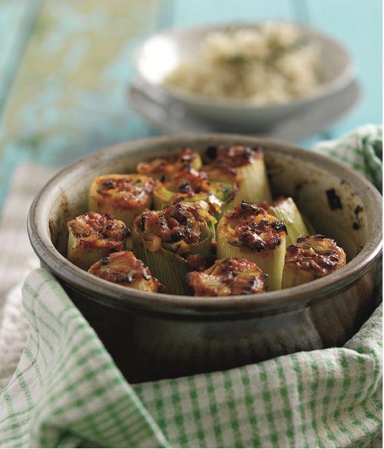 #Welshlamb & rosemary stuffed leeks