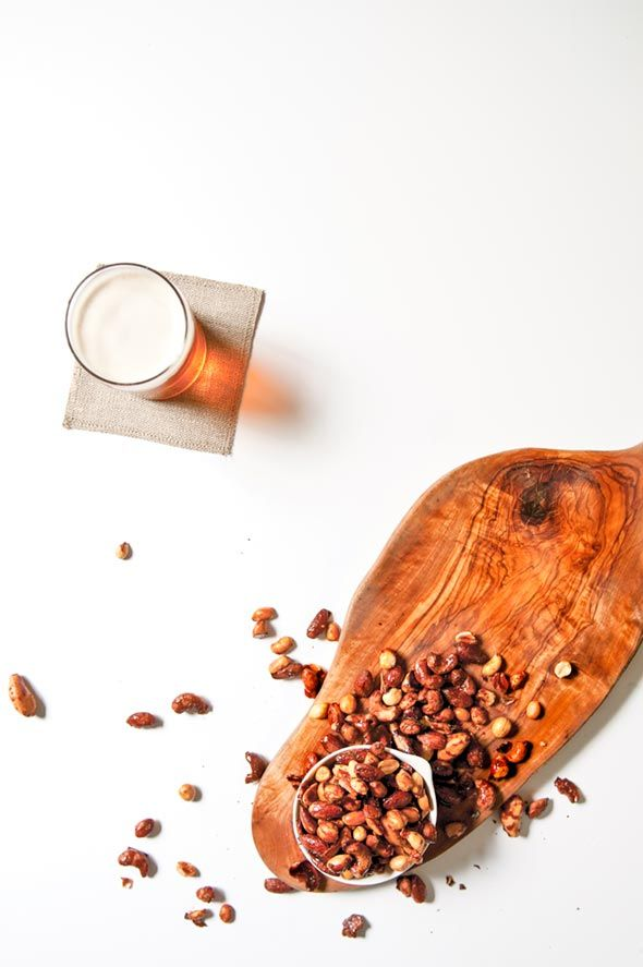 Beer Nuts Recipe | The Craft Beer Bites Cookbook (These beer nuts are slightly sweet, sorta spicy, subtly complex, and insanely easy to make from just IPA, salted nuts of any sort, brown sugar, and hot sauce. Unlike anything you've ever experienced.)