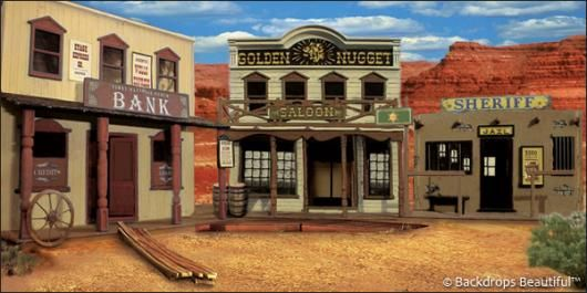 Wild West Backdrop | Backdrops: Old Western Town 3A