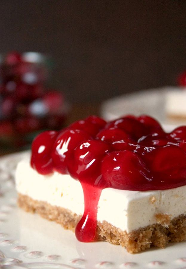 Cherry Delight Cheesecake Squares Recipe - Do More for Less