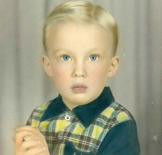 Trump tem 70, mas nessa foto histórica ele era ainda um garotinho – e o seu cabelo era bem mais bonito, hein?