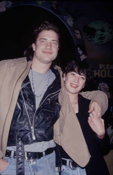 Brendan Fraser and Moira Kelly, Planet Hollywood