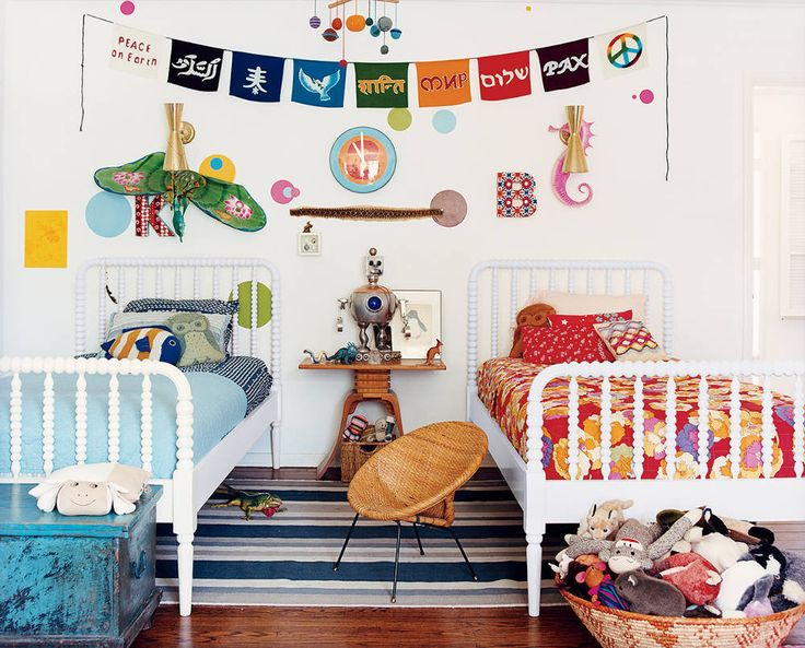 colorful kids room.  See more images from fully decorated (with an indie edge) on domino.com