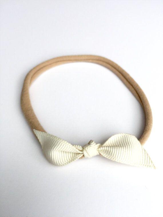 Baby Headband / Grosgrain Ribbon Bow / by CharleyCharlesShop