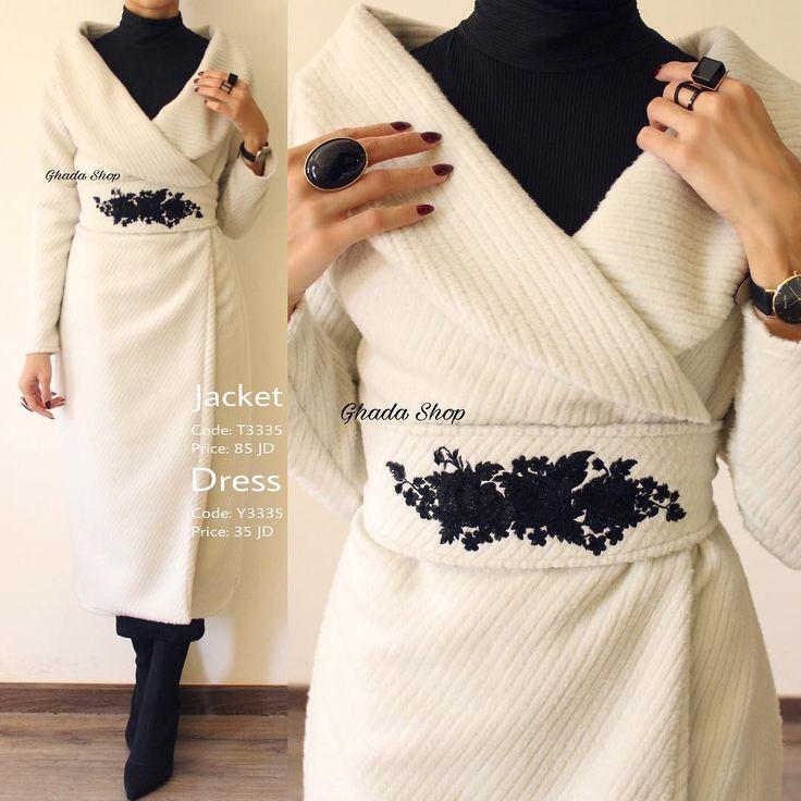 Winter white jacket and skirt idea